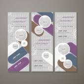 Modern banner template design — Stock Vector