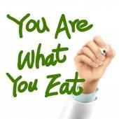 Läkare skriver du är vad du äter ord — Stockvektor