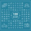 100 social media icons set — Stock Vector #70116301
