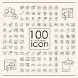 100 social media icons set — Stock Vector #70116321