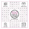 Lovely 100 travel icons set — Stock Vector #70116367