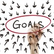 Goals concept drawn by hand — Stock Photo #70242261