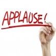Applause word written by hand — Stock Photo #70248505