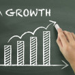 Growth graph drawn by hand — Stock Photo #70256075
