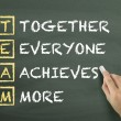 Together Everyone Achieves More written by hand — Stock Photo #70258627