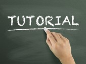 Tutorial word written by hand — Stock Photo