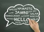 Greeting in different language — Stock Photo