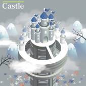 White castle 3d isometric infographic — Cтоковый вектор