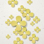 美しい紙の花カット アウトの背景 — ストックベクタ