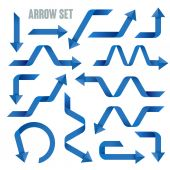 Useful blue arrows set collection — Stock Vector