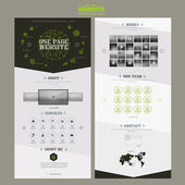Edgy one page website template design with fluorescent line — Stock Vector