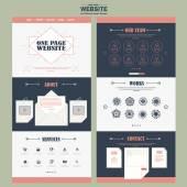 Simplicity one page website template design  — Vector de stock