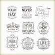 Positive quotes set — Stock Vector #72282423