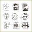 Positive quotes set — Stock Vector #72282549