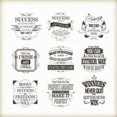Success motivational and inspirational quotes set — Stock Vector