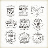 Positive quotes set — Stock Vector
