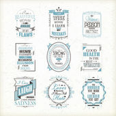 Life quotes set — Stock Vector