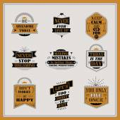 Motivational and inspirational quotes set  — Stock Vector