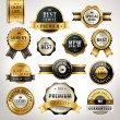 Luxury premium quality golden labels collection — Stock Vector #72430639