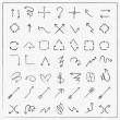 Sketch style arrows set collection — Stockvector  #72433847