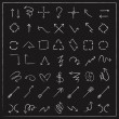 Sketch style arrows set collection — Stockvector  #72433849