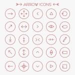 Red modern arrows icons set — 图库矢量图片 #72433841