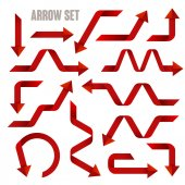 Useful red arrows set collection  — Stock Vector