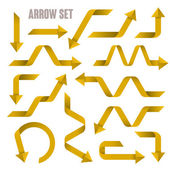 Useful yellow arrows set collection  — Stock Vector