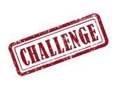 Stamp challenge in red  — Stockvector