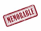 Stamp memorable in red — Stock Vector