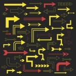 Modern colorful arrows collection — Stock Vector #73889251