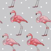 Elegant flamingo seamless pattern — Vecteur