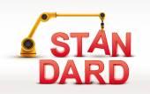 Industrial robotic arm building STANDARD word — Stock Vector