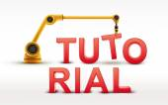 Industrial robotic arm building TUTORIAL word — Stock Vector