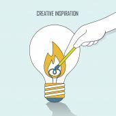 Creative inspiration concept — Stock Vector