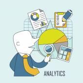 Analytic concept — Stock Vector