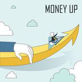 Money up concept — Stock Vector