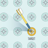 Targeting concept — Stock Vector