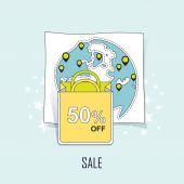 Sale concept — Stock Vector