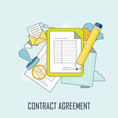 Contract agreement concept — Stock Vector