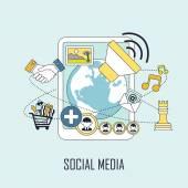 Понятие социальных медиа — Cтоковый вектор