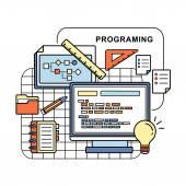 Programing concept — Stok Vektör