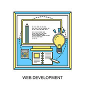Web development concept — Stock Vector