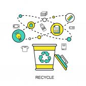 Recycle concept — Stock Vector