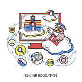 Online Eğitim kavramı — Stok Vektör