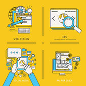 Mobile service and web marketing concepts — Stock vektor