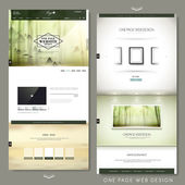 Graceful one page website design template — Stock Vector