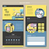 Progettazione processo concetto una pagina sito web design — Vettoriale Stock