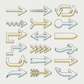 Graceful arrows set — Stock Vector