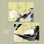 Abstract tri-fold brochure template design — 图库矢量图片